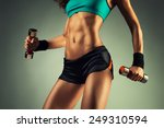 young sports sexy fitness woman ... | Shutterstock . vector #249310594