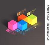 business infographics cube. 3d... | Shutterstock .eps vector #249312829