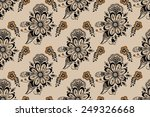vector flower seamless pattern... | Shutterstock .eps vector #249326668