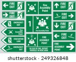 set of emergency exit sign ... | Shutterstock .eps vector #249326848