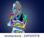 thermal imaging young woman... | Shutterstock . vector #249335578