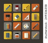 set of flat icons design for...