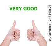very good | Shutterstock . vector #249340609