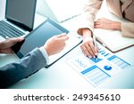 business people discussing the... | Shutterstock . vector #249345610