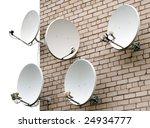 Five Satellite Antennas On The...