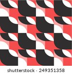 red vector abstract background | Shutterstock .eps vector #249351358