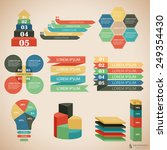 vector illustration set of... | Shutterstock .eps vector #249354430