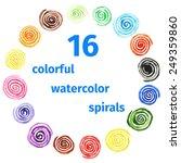 Handpaint Watercolor Vector...