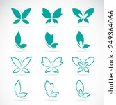 Stock vector vector group of butterfly on white background 249364066