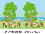 game farm  find ten differences | Shutterstock .eps vector #249367678