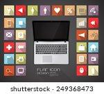 flat design icon set with...