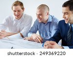 three male architects... | Shutterstock . vector #249369220
