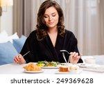 beautiful woman having... | Shutterstock . vector #249369628