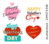 happy valentine's day text... | Shutterstock .eps vector #249371548