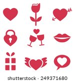 valentines day icons | Shutterstock .eps vector #249371680