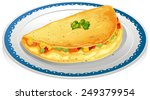 illustration of a plate of... | Shutterstock .eps vector #249379954