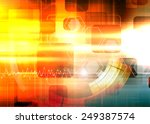 abstract dynamic futuristic... | Shutterstock . vector #249387574