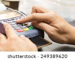 close up of hand with credit... | Shutterstock . vector #249389620