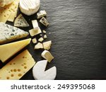 Different types of cheeses on...