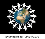 forming a human chain around... | Shutterstock . vector #24940171