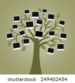 big tree with photo cards on... | Shutterstock . vector #249402454