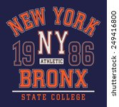 college athletic sport new york ... | Shutterstock .eps vector #249416800