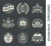 retro design insignias... | Shutterstock .eps vector #249416863