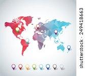 world map | Shutterstock .eps vector #249418663