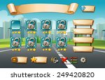 illustration of a computer game ... | Shutterstock .eps vector #249420820