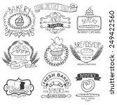 vintage retro bakery badges... | Shutterstock .eps vector #249422560