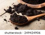 Closeup Detail Of Coffee Ground ...