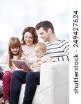 portrait of happy family...   Shutterstock . vector #249427624