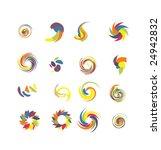 spin design elements set 2 | Shutterstock .eps vector #24942832