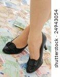 crossed legs on banknotes ... | Shutterstock . vector #24943054