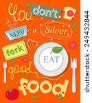 food. positive illustrated... | Shutterstock .eps vector #249432844