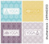 vector yoga icons and line... | Shutterstock .eps vector #249440353