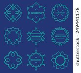 vector set of outline emblems... | Shutterstock .eps vector #249441178