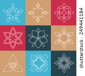 set of simple and graceful... | Shutterstock .eps vector #249441184