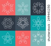 set of simple and graceful... | Shutterstock .eps vector #249441250