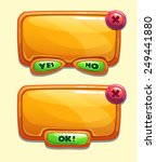 orange cartoon panels for game...