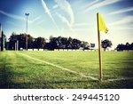Soccer Field At Sunny Summer...