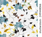 seamless flower illustration ... | Shutterstock .eps vector #249448066
