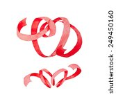 red ribbon in the shape of text ... | Shutterstock . vector #249450160