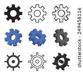 set of nine gears isolated... | Shutterstock .eps vector #249458116