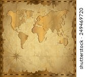 card with vintage map.... | Shutterstock . vector #249469720
