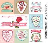valentine s day wedding love... | Shutterstock .eps vector #249471814