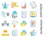 data analytics icons set  big...