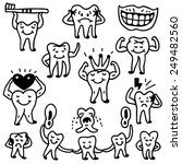teeth   icons in sketch style | Shutterstock .eps vector #249482560