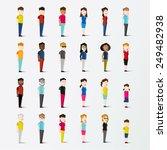 men and women people in side... | Shutterstock .eps vector #249482938