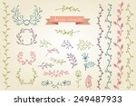 floral design elements. floral... | Shutterstock .eps vector #249487933